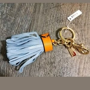NWT Coach Keychain Key Fob Fringe Tassle